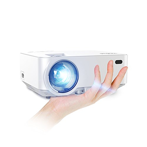 Roadwi 1500 Lumens HD Projector, Mini Protable Multimedia Projector Support HDMI USB SD AV VGA TV Interface for 1080P Home Cinema Theater Video Games Parties Movie Night