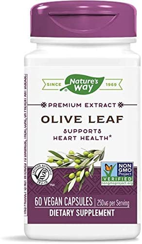 Natures Way Olive Leaf Standardized Capsule – 60 per pack – 3 packs per case.