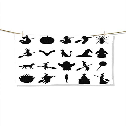 FootMarkhome Microfiber Beach Towel Silhouettes Set for Halloween