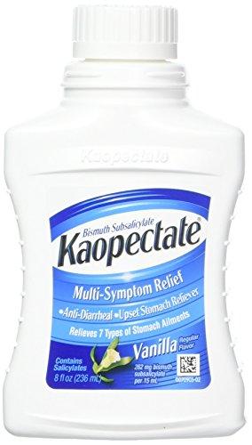 - Kaopectate Multi-Symptom Relief Anti-Diarrheal/Upset Stomach Reliever Liquid, Vanilla 8 oz (Pack of 3)