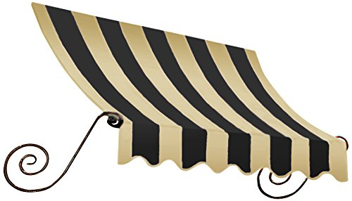 Awntech 8-Feet Charleston Window/Entry Awning, 31 by 24-Inch, Black/Tan ()
