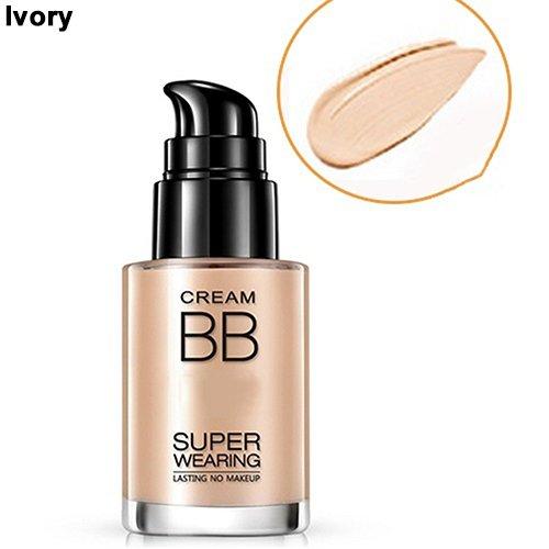 (Liquid Foundation gLoaSublim Smooth Concealer Moisturizing Makeup Liquid Foundation Shades BB Magic Cream - Ivory)