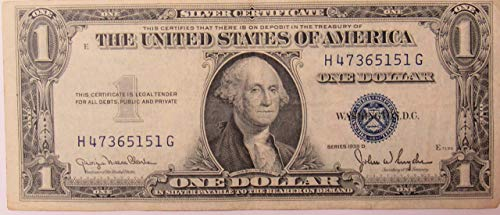 - 1935 Series D Silver Certificate in Very Good Condition