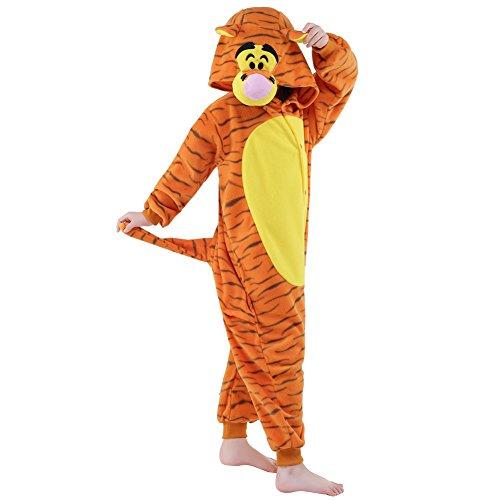 [Sunrise Childrens Pajamas Sleeping Wear Anime Cosplay Onesie Homewear (115#, Jump Tiger)] (Tiger Costumes Girls)