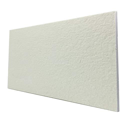 BXI Ceramic Fiber Thermal Insulation Board (2732F) - Inorganic - Flame Retardant, Heat Resistant (12'' X 8'' X 0.4'')