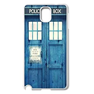 C-EUR Customized Print Doctor Who TARDIS Police Call Box Hard Skin Case Compatible For Samsung Galaxy Note 3 N9000