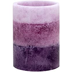 Kiera Grace Tri-Layer LED Pillar Candle with Timer, 3 by 4-Inch, Lavender Cashmere Fragrance