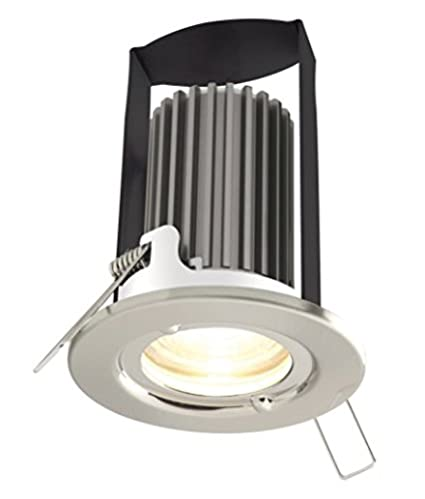 8 X LUCECO LED DOWNLIGHT FIRE RATED DIE CAST FIXED 7W 5W DIMMABLE LED DOWNLIGHT