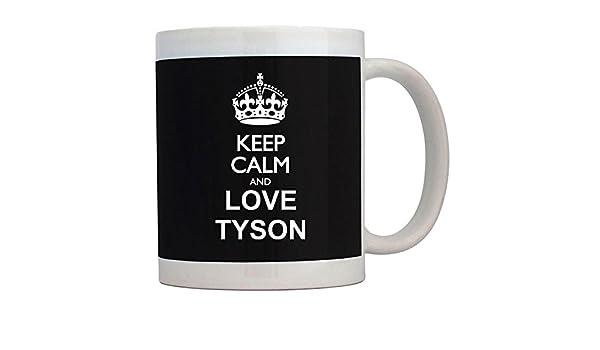 Teeburon Keep Calm and Love Tyson Taza: Amazon.es: Hogar