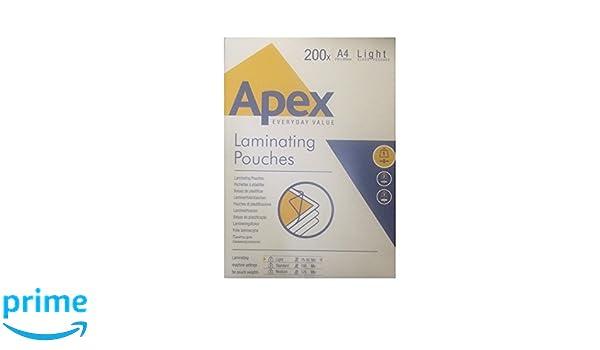 Fellowes Apex - Bolsas de plastificar (A4, 200 unidades ...
