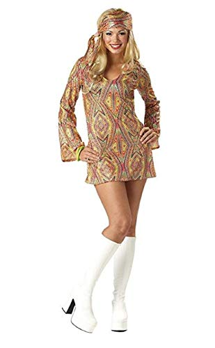 Dolly Adult Disco - Disco Dolly Costume Adult - Adult Large