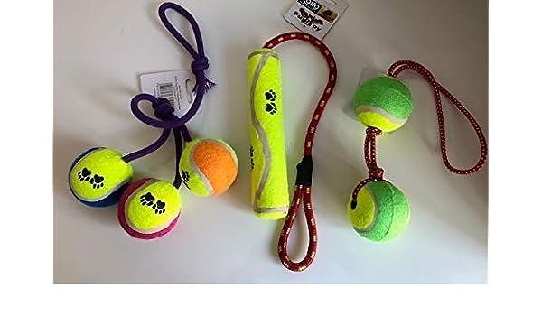 Koko Pelotas de Tenis Tuggers Perro Juguete Variedad Pack: Amazon ...