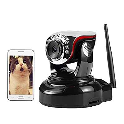 Wireless IP Camera, Nexgadget 720P WiFi Security Camera with Two-Way Audio, Motion Detection Built-in Alarm Jack, IR-CUT Night Vision, Baby Pet Video Monitor Nanny Cam, Home Surveillance Camera, Black