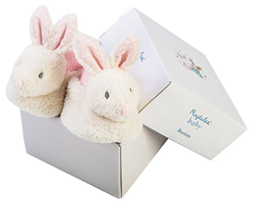 Ragtales Baby Infant Fifi White Bunny Booties -