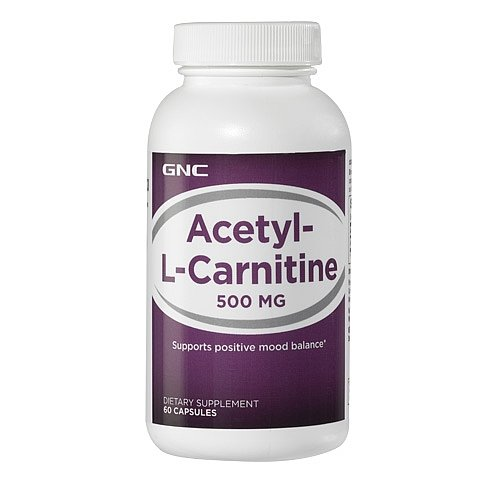 GNC Acetyl-L-Carnitine 500mg, Capsules, 60 ea