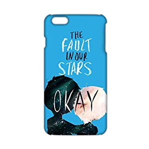 2015 Ultra Thin The Fault in Our Stars Okay? Okay Printed 3D Phone Case for iPhone 6 Plus