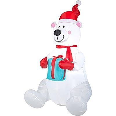 6' Airblown Inflatable Polar Bear Christmas Inflatable