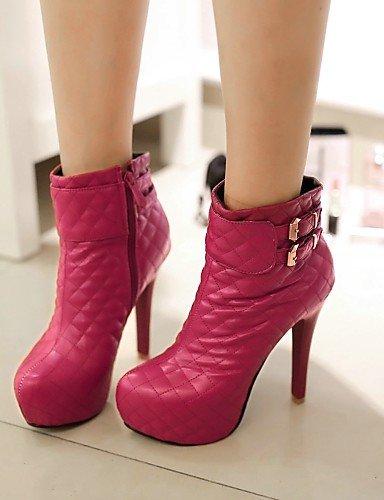Bottes Femme Talon Bout à bleu Chaussures Femme Chaussons pour Citior Stiletto Chaussons Mode pour Bottes Rond URxqnwaE