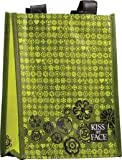 KISS MY FACE Recycled Gift Tote Bag Black/Green 1 UNIT