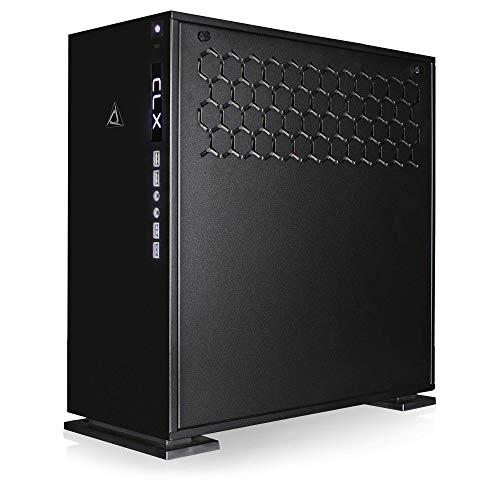 CLX Set Gaming PC AMD Ryzen Threadripper 2990WX 4.2GHz 32-Core, 240mm Liquid-Cooled, X399 ATX, 32GB DDR4, Dual (2X) RTX 2080 Ti 11GB, 960GB SSD + 6TB HDD, WiFi, Black Mid-Tower 4 Blue LED Ring Fans