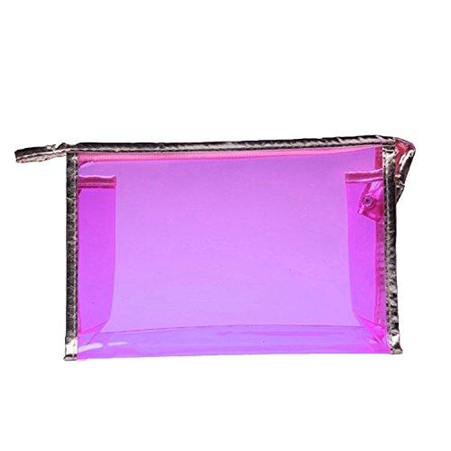 Ladies-Waterproof-Clear-PVC-Cosmetic-Handbag-Travel-Makeup-Bag-Cosmetic-Organizer-Purple