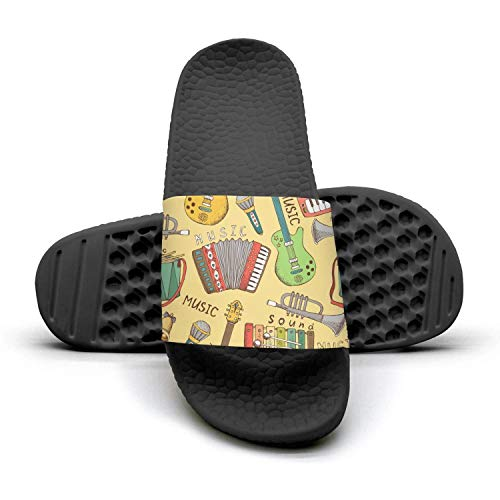 Fashionable Easy Soft Slipper Slides Outdoor Guitar Sandals Easy Musicman Musicman Womens House Yellow Yellow RqUFTF