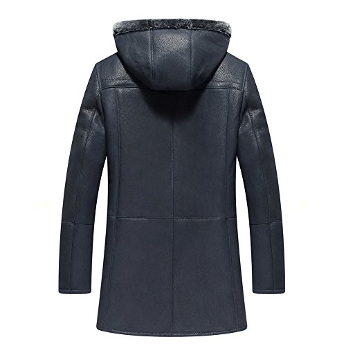 99f146184c1b Denny Dora Men s Shearling Coat Removable Hooded Mens Genuine ...