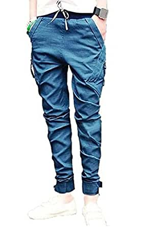 New Mens Harem Casual Trousers Tapered Drop Crotch Cuffed Jogger Pants