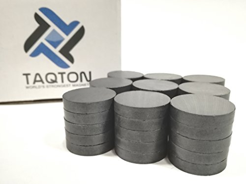 TAQTON Small Ceramic Craft Magnets - 50 pcs. 1'' x 0.16'' Thick. Industrial Strength Craft Magnets, Ferrite Disc Magnets. by TAQTON (Image #5)