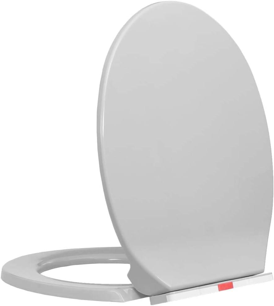 vidaXL Tapa y Asiento de V/áter Cierre Suave Ovalada Inodoro con Desmontaje R/ápido de Dise/ño Ergon/ómico F/ácil de Limpieza Color Albaricoque