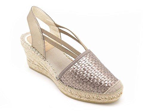 Vidorreta - Sandalias de vestir de Lona para mujer Bronzo/Topo