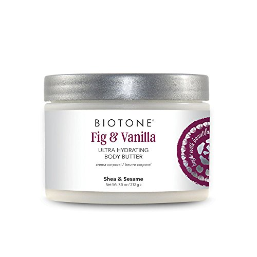 Biotone Fig & Vanilla Ultra Hydrating Body Butter, 7.5 Ounce