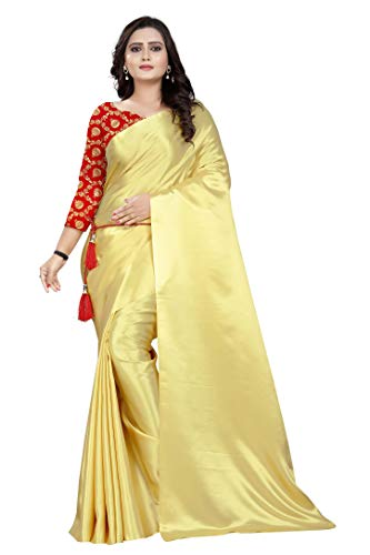 Manikarnika Women's Plain Bollywood Crepe Saree