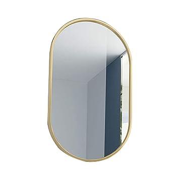 Amazon.com: Bathroom Mirrors Vanity Mirror Metal Oval Makeup ...