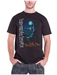 Iron Maiden T Shirt Fear of The Dark Tree Sprite Band Logo Mens Black