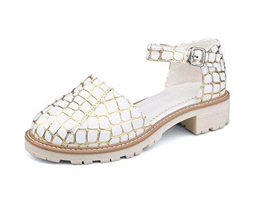 Hebilla Black Cm 4 34 trabajo 35 comodidad 38 cabeza Xie Zapatos Redonda Escuela Mujer De Gold verano Compras 41 w77xSqIZ