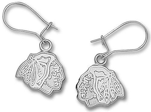 Chicago Blackhawks Sterling Silver Dangle (Chicago Blackhawks Sterling Silver Earrings)