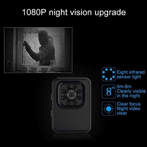 SHIFENX R3 WiFi Full HD 1080P 2.0MP Mini Camcorder WiFi Action Camera Color : Blue 120 Degrees Wide Angle Support Night Vision//Motion Detection Durable