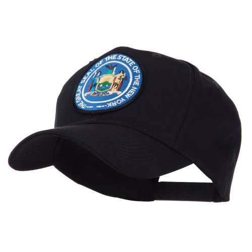 e4Hats.com US Eastern State Seal Embroidered Patch Cap - New York OSFM