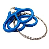 Length is approximately 60cm or 23.63 inches. The ring diameter is approximately 6cm or 2.36 inches. Each order is for 1 piece. Blue Finger grips make holding and use very easy. Great emergency survival tool. A must have for every survival kit.