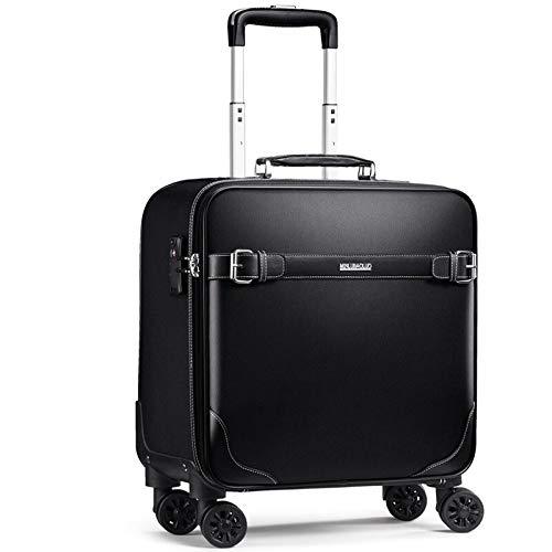360°スピナー荷物、TSAロック付き軽量オックスフォードクロススーツケースに搭乗,Black,20in B07QDFXPKP Black 20in