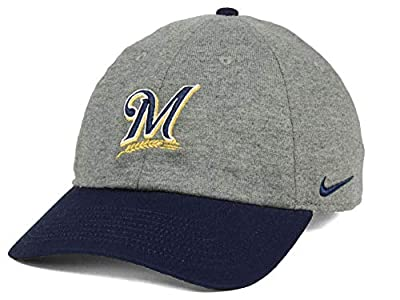 Nike Milwaukee Brewers MLB 2 Tone Heather Adjustable Baseball Hat Cap