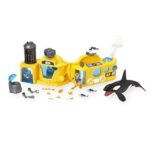Animal Planet Deep Sea Lab with Killer Whale Mega Playset with Light and - Playset Planet Animal