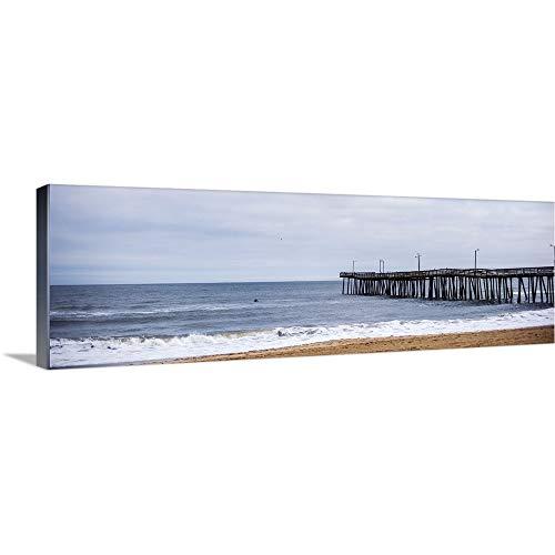 Virginia Beach Fishing Pier Canvas Wall Art Print, ()