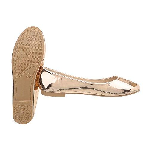 Design Ital altas Plano Zapatillas Rose Zapatillas mujer Od Gold Zapatos para 50 YRBn0wT