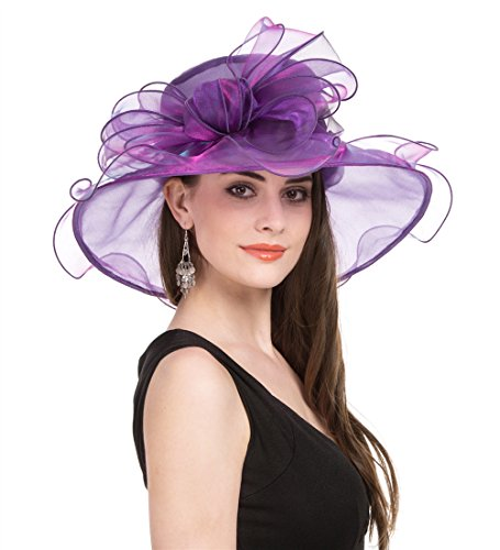 de6f2354d6c3 PREV NEXT Home — SAFERIN Women's Organza Church Kentucky Derby Fascinator  Bridal Tea Party Wedding Hat