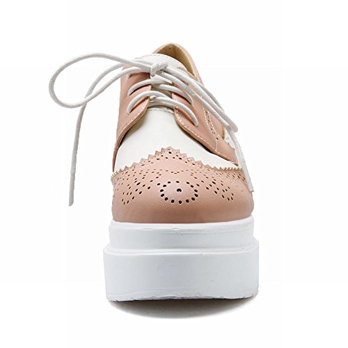 Two Shoes Fashion Pink Wedge Oxford Inside heel Up Platform Latasa Lace Womens Toned High 7wxnqS5B4E