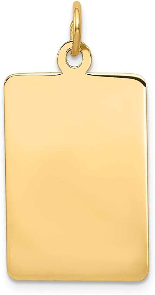B007YH34Y6 14k Yellow Gold .011 Gauge Rectangular Engravable Disc Pendant Charm Necklace Square Rectangle Fine Jewelry For Women Gifts For Her 41od-7IpxtL.UL1000_