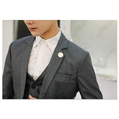 Fit Costume Un Bouton b Kindoyo Veste Affaires De Hommes Slim Élégante Fête Blazer Gris Décontractée Rw8Igw0x