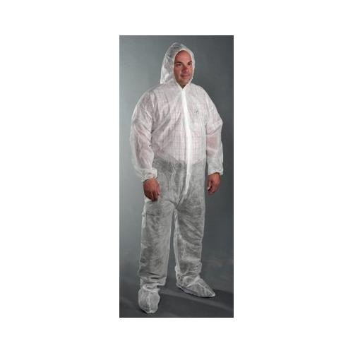 Price comparison product image West Chester 3509 2XL STD WGT Sbp Coverall Hood & Boot, 2XL, White (Pack of 25)